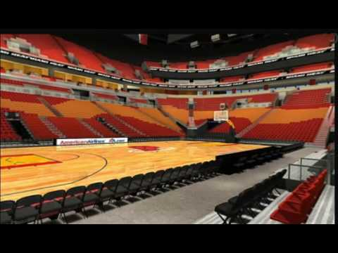 MIami Heat Tickets -Lantetickets.com - View From 108 row 4 (behind the Miami heat bench)