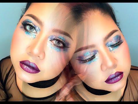 pinklipsclub  easy glitter galaxy eye makeup  youtube