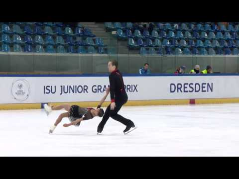 2016 ISU Junior Grand Prix - Dresden - Pairs Free Skate - Laiken LOCKLEY / Keenan PROCHNOW USA