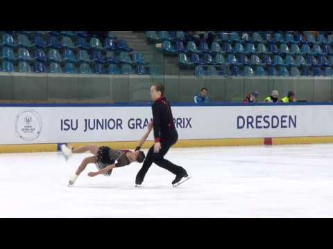2016 ISU Junior Grand Prix - Dresden - Pairs Free Skate - Laiken LOCKLEY / Keenan PROCHNOW USA