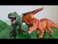 3 DINOSAURS in a box, T-Rex, Triceratops and Spinosaurus!!!