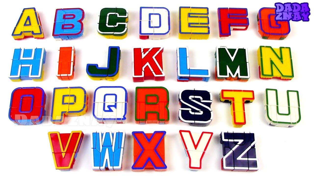 Трансформеры алфавит объемный флис