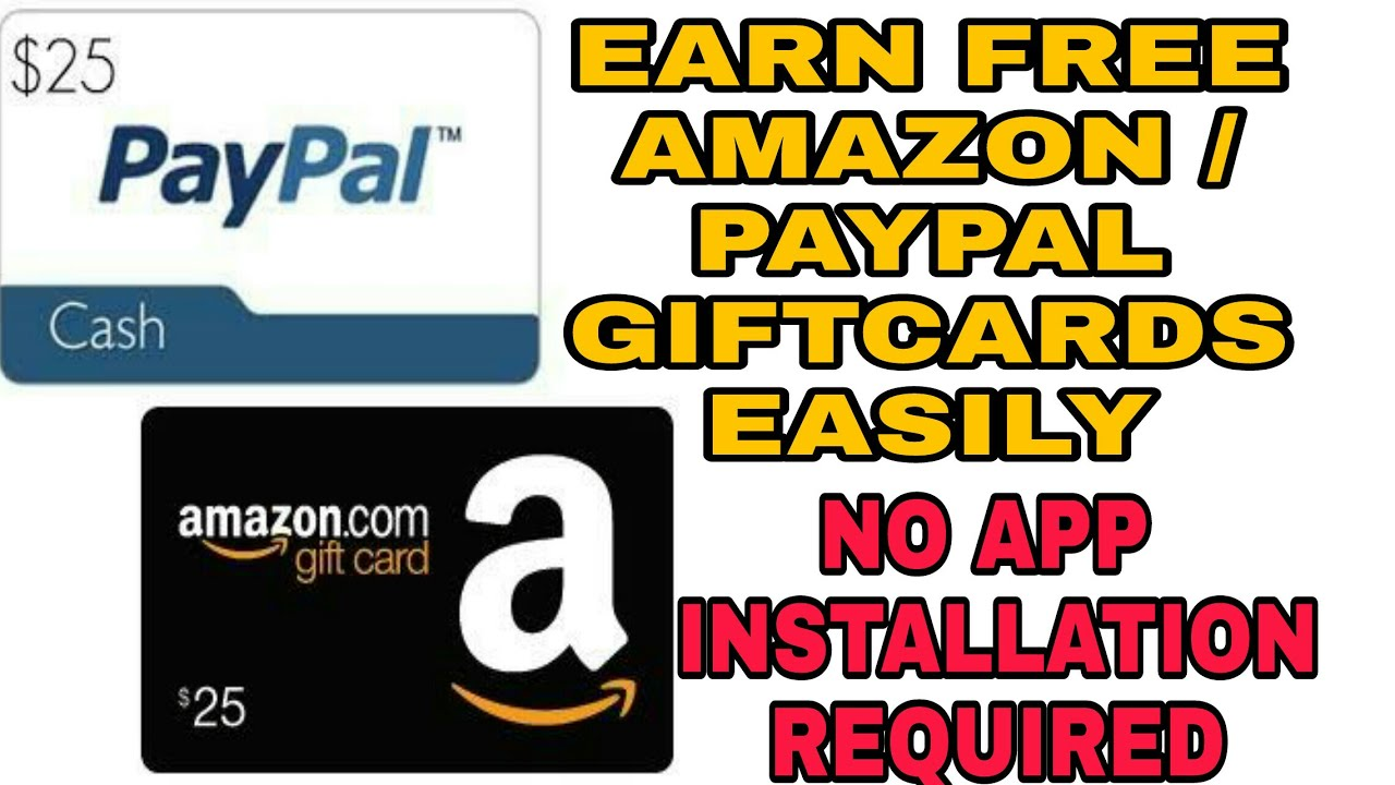 Earn AMAZON and PAYPAL Gift card without installing any app - YouTube