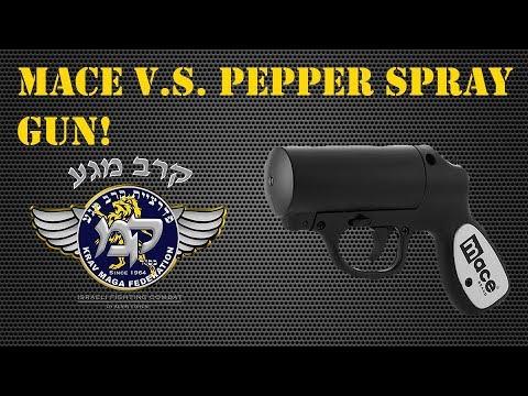 krav maga mace vs pepper spray gun youtube