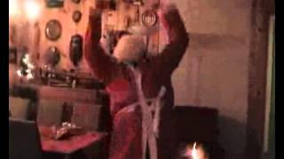 Santa Claus dances the Norwegian Støvel dance