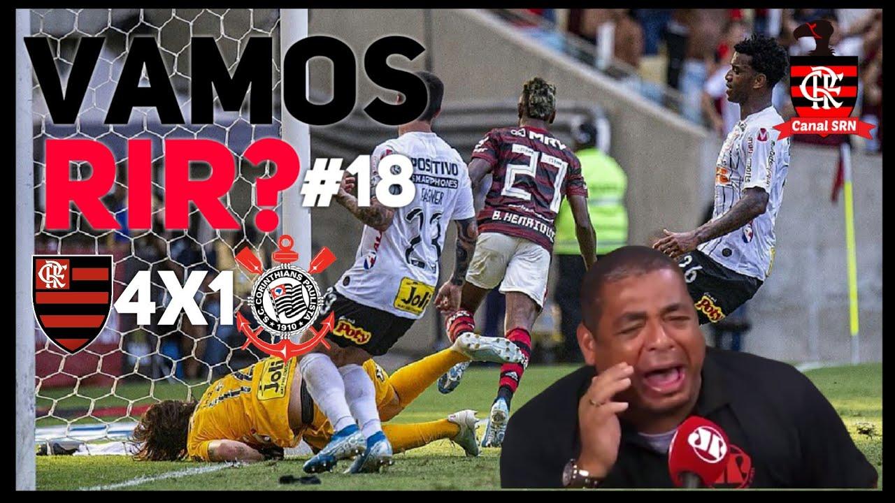 Vamos Rir 18 Reação Do Vampeta Em Flamengo 4x1 Corinthians