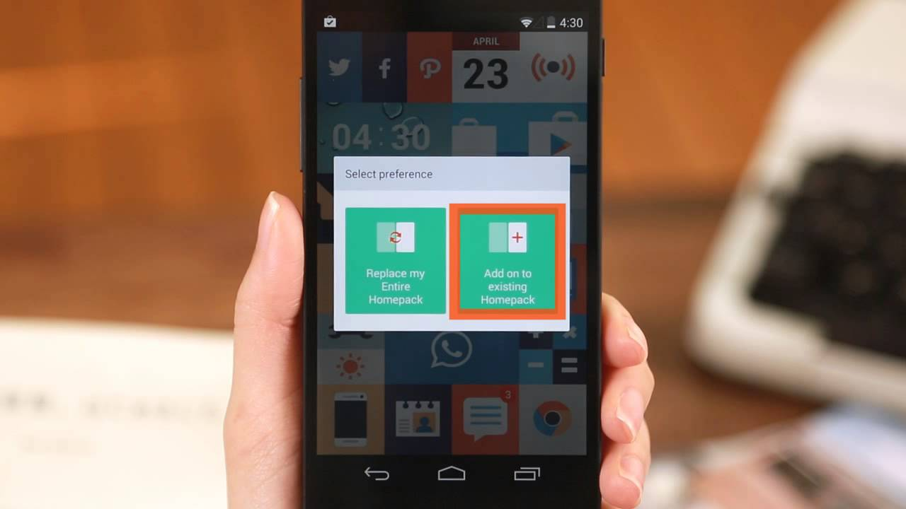 How to Use Homepack Buzz on Buzz Launcher