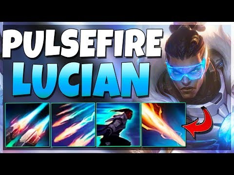 *NEW* PULSEFIRE LUCIAN SKIN IS THE BEST ONE YET!! Fire MASSIVE Lasers! - League of Legends