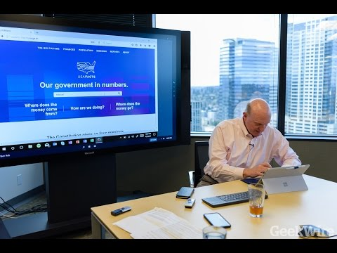 Full Interview: Steve Ballmer talks with GeekWire about his new project, USAFacts