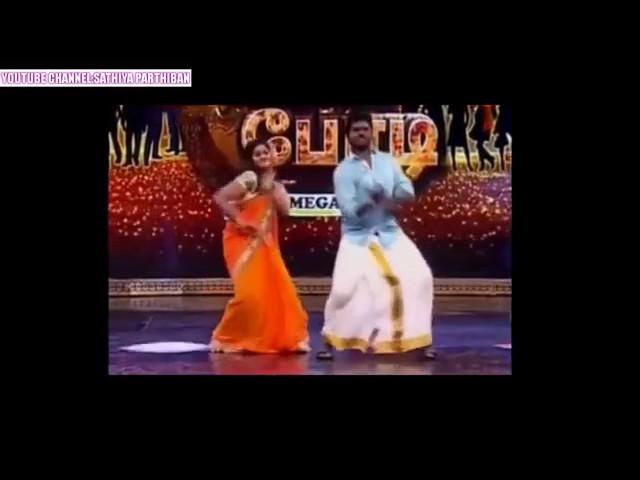 vijay tv actress myna and anusuya hot dance