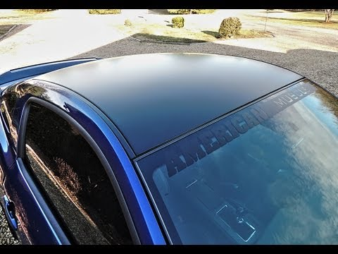 2013 Ford Mustang Gt Matte Black Boss 302 Style Roof Decal