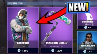 "NEW ""ABSTRAKT"" SKIN in FORTNITE! NEW SKIN SHOWCASE (Fortnite Battle Royale)"