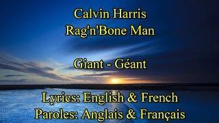 """Rag'n' bone Man-Calvin Harris """"Giant"""" - Paroles de la chanson en Anglais & Français Video"""