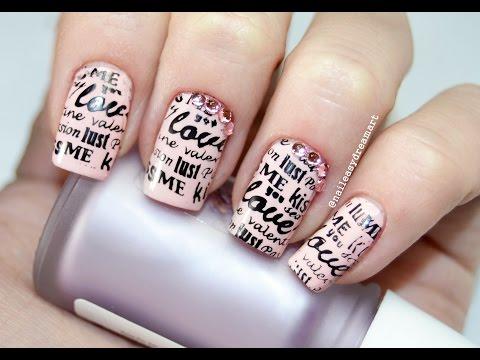 DIY Valentine's Nails | Love Note Nail Art | Дизайн ногтей на День Святого Валентина