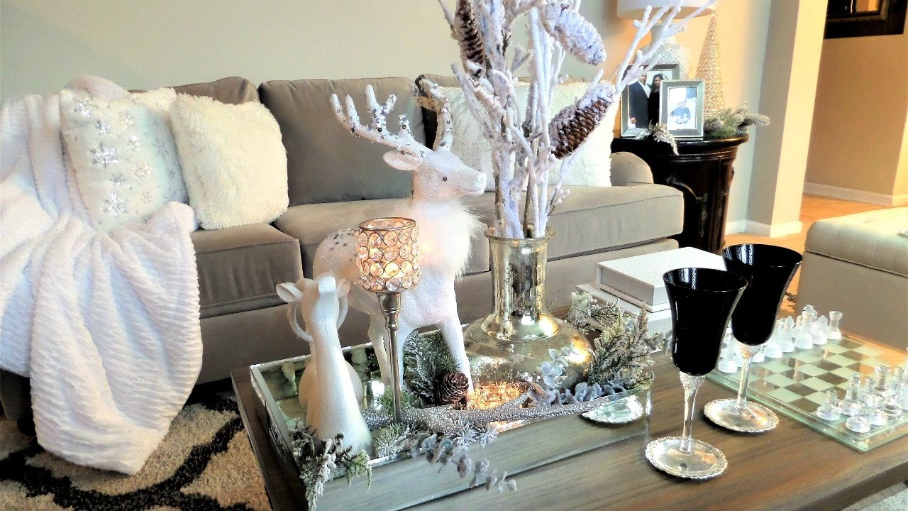 Coffee Table Styling Christmas Decor Ideas