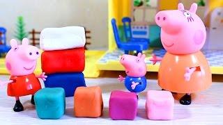 Свинка Пеппа. Видео для детей. Мама свинка учит Пеппу и Джорджа смешивать цвета .(Развивающее видео для детей с участием игрушек из мультфильма свинка Пеппа. У Пеппы и Джорджа только 4 цветн..., 2015-07-04T14:44:38.000Z)