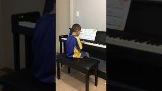 Edward playing the piano!