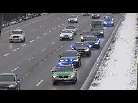 Polizeieskorte auf der Autobahn A9