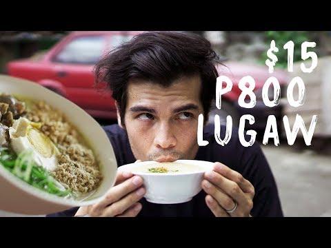 P10 vs P800 Lugaw Congee Crawl In Manila, Philippines