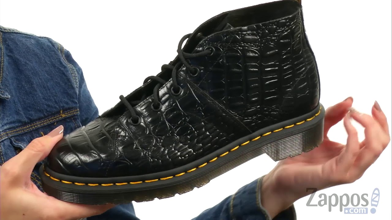 Dr. Martens Dr. Martens Church Croco Monkey Boot (Black New Vibrance Croco) Women's Boots from Zappos | Shop