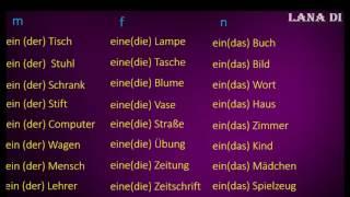 Німецька мова. Lektion 2. Stunde 1. Іменник. Артикль.