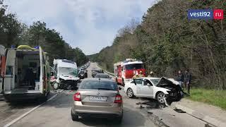 В Крыму на трассе под Гаспрой произошло смертельное ДТП с машиной скорой помощи