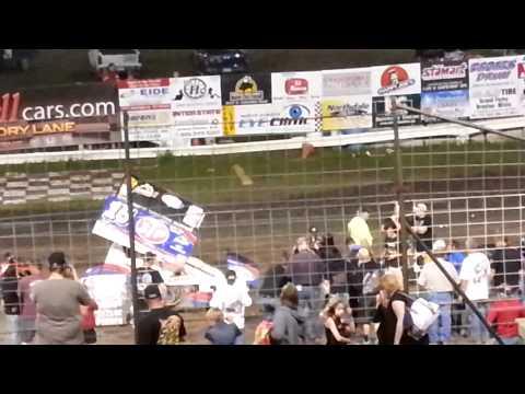 Donny Schatz Victory Lane - River Cities Speedway Win #153