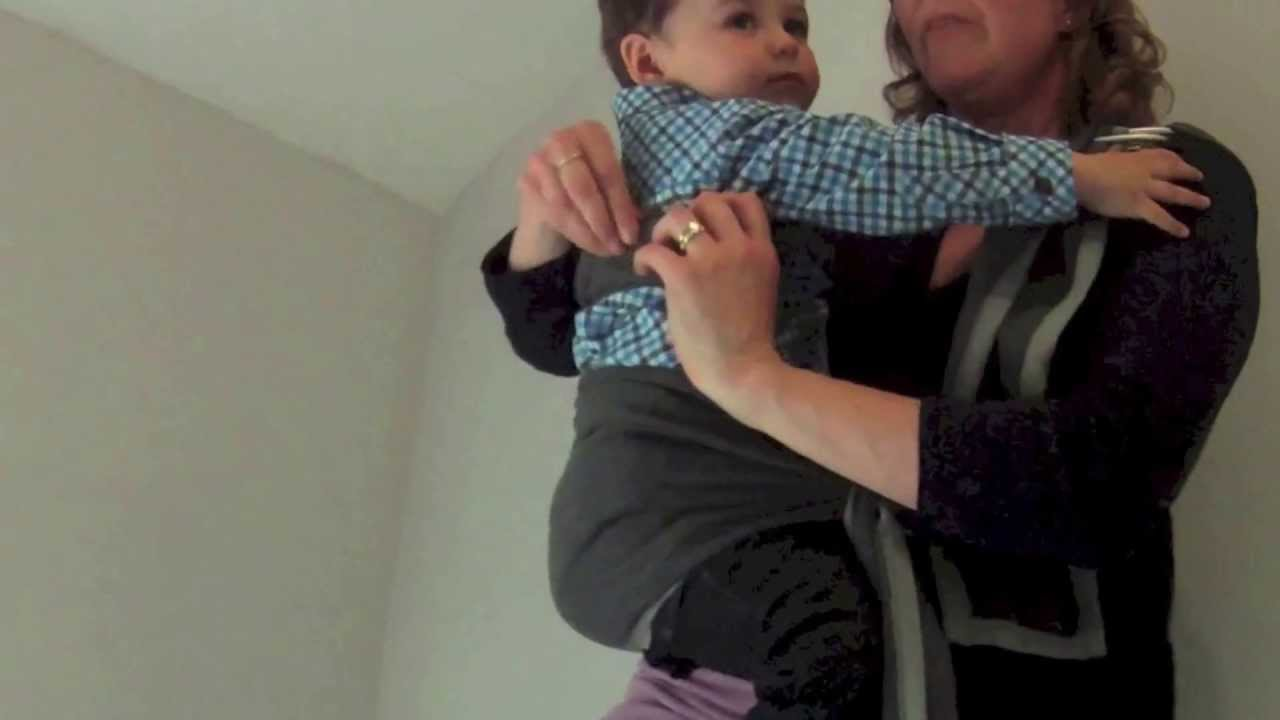 Close Caboo Sling Carrier Hip Position For Older Babies Youtube