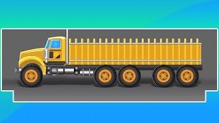 Truk pemuatan raksasa | Video anak-anak | pembentukan dan penggunaan | Cartoon Truck | Loading Truck
