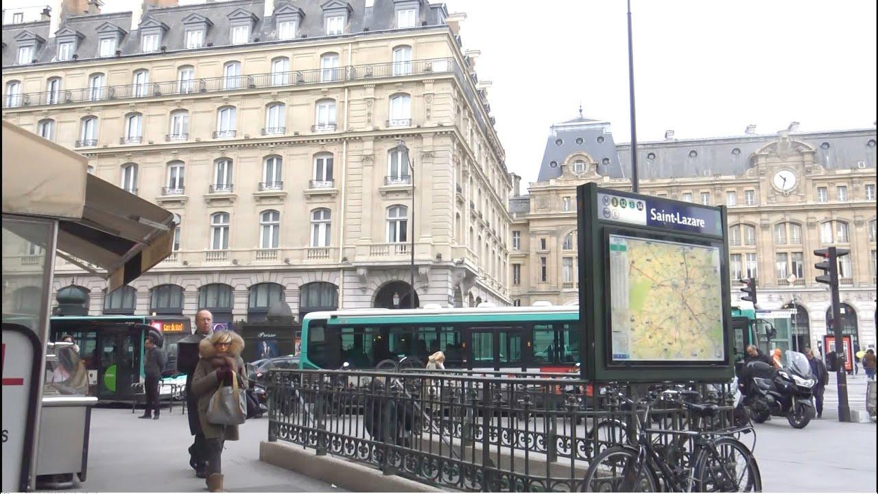 Paris ; Gare Saint-Lazare ; Passage du Havre ; Metro ; Capitale ...