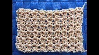 Crochet United Stitch Tutorial (ONE ROW REPEAT👍)~ Stitch for Shawls or Scarfs