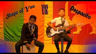 Shape of You VS Despacito Guitar cover at Unique International College | On College Birth Day