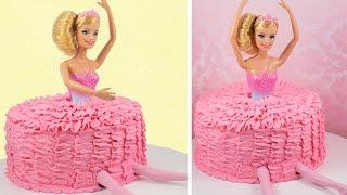 バービーのバレリーナケーキの作り方―カップケーキ中毒のチュートリアル...