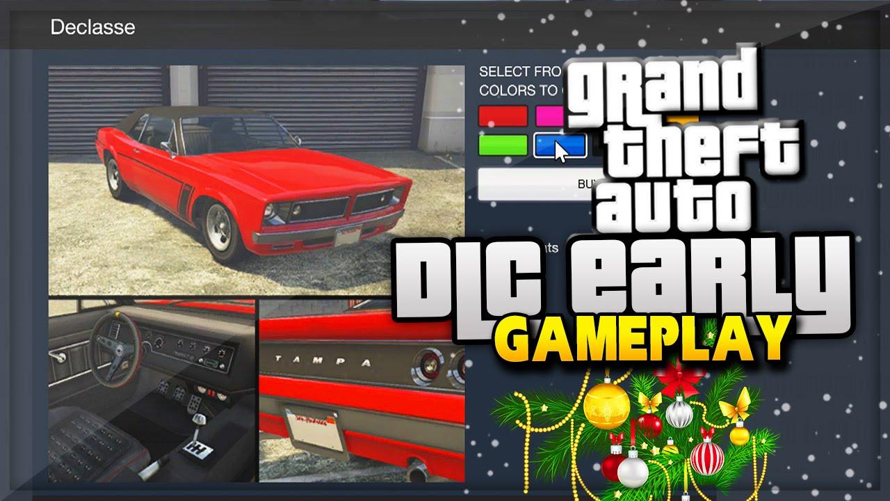 GTA 5 Christmas DLC Car EARLY GAMEPLAY! GTA Online Christmas ...