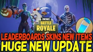 FORTNITE Battle Royale NEW UPDATE 1.8 Leader Boards New Skins Items - Halloween Content