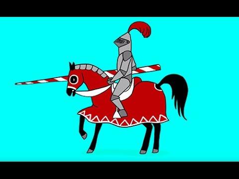 Apprendre dessiner un chevalier en tournoi youtube - Dessin facile de cheval ...