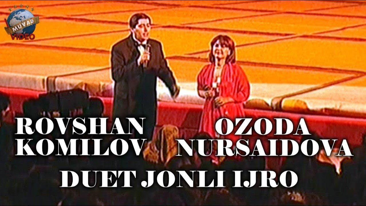 Rovshan Komilov va Ozoda Nursaidova duet jonli ijro (Arxiv video)