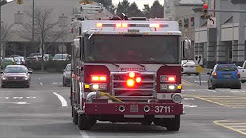 Engine and Rescue company arriving to accident - Whitehall, PA 04/11/18
