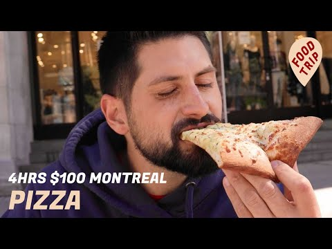 Best Pizza In Montreal With $100 And 4 Hours | Food Trip