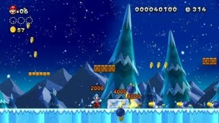 New Super Mario Bros. U - Frosted Glacier-2 - Freeze the Cooligan for 1-Ups (Wii U)