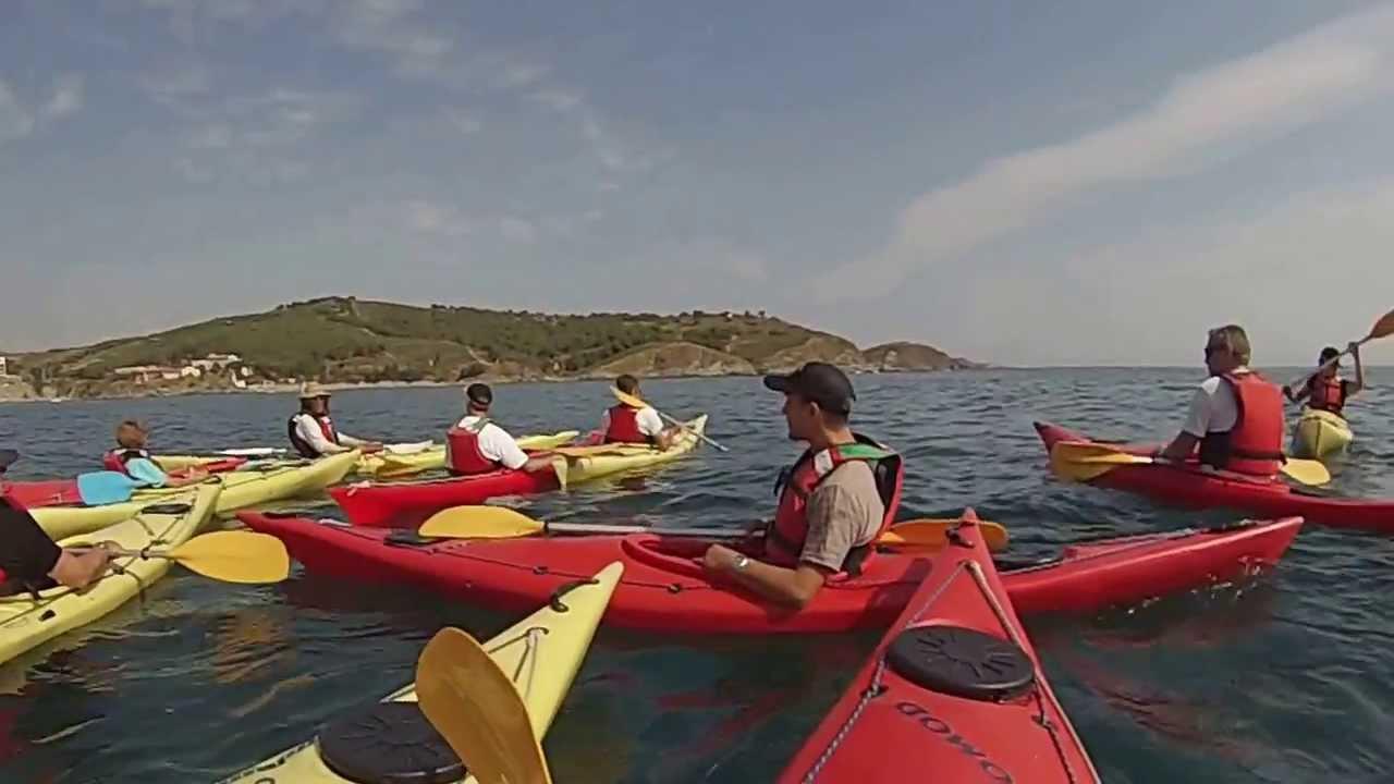 N°1 Kayak sur mer  Banyuls le départ de la plage