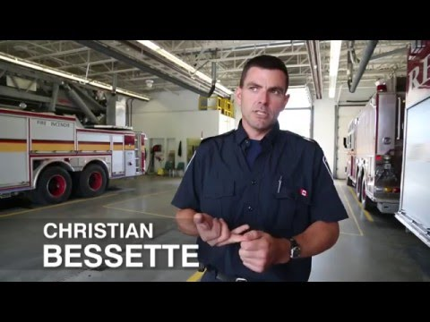 Pompier de la ville d'Ottawa Christian Bessette - Dans mes souliers