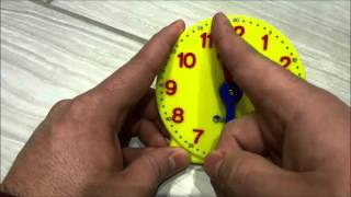 Wie spät ist es? Telling time in German This special clock only has the hour hand -- to make it easy for young students (kindergarten/1st grade) to