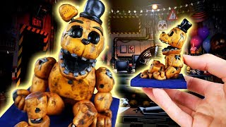 Making WITHERED GOLDEN FREDDY in POLYMER CLAY! FNAF: Ultimate Custom Night