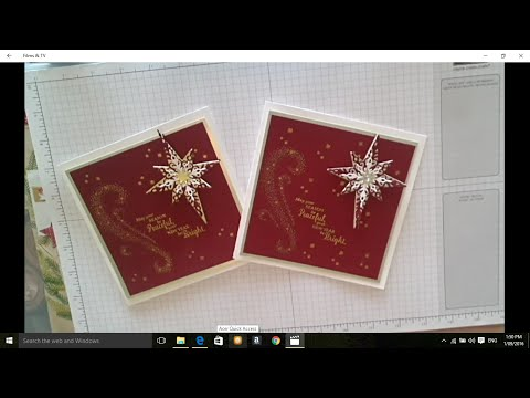 Stamping with DonnaG Stampin' Up Star of light stamps & Starlight Thinlet Bundle Christmas Card