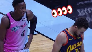 Stephen Curry Looked Frustrated After Victor Oladipo Locked Him Up