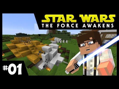 Star Wars: The Force Awakens Ep. 1 || SHIP CRASH? || Minecraft Modded Survival