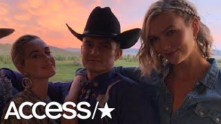 Katy Perry, Orlando Bloom And Mila Kunis Celebrate Karlie Kloss' Wedding In Wyoming! | Access