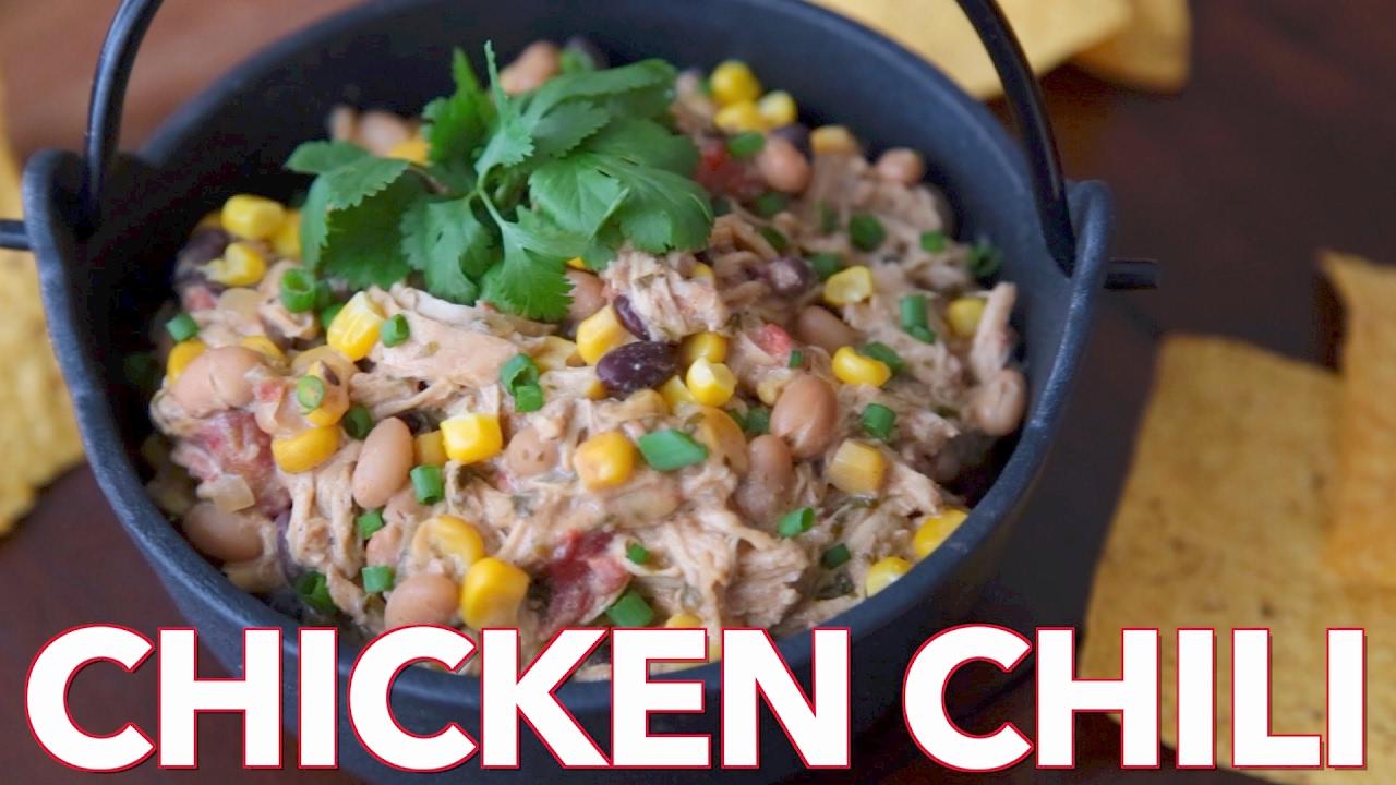 Dips: Chicken Cream Cheese Chili Recipe - Natasha's Kitchen - YouTube