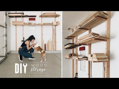 DIY Wall Wood Storage for Garage + Giveaway!